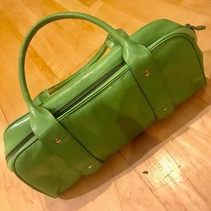 Green Kenneth Cole Leather Purse Vintage